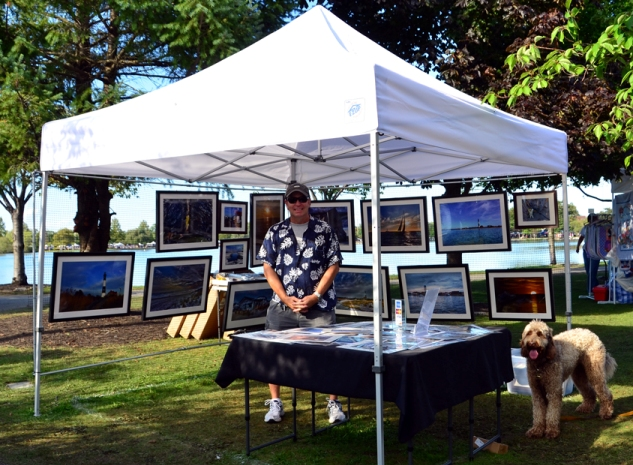 James Kirschberg at the 2012 Argyle Lake Art Show
